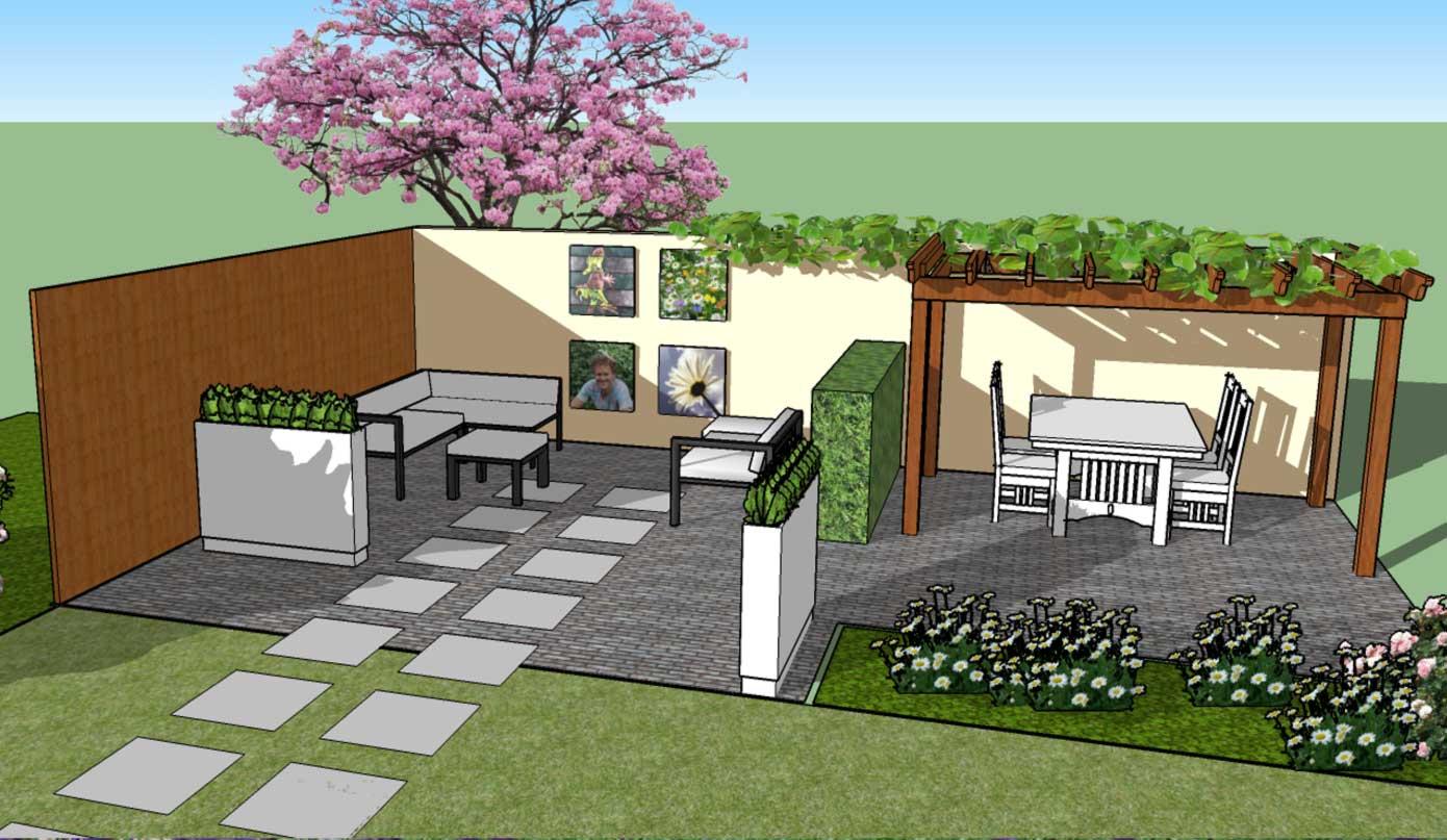 Sketchup tuin ontwerpen