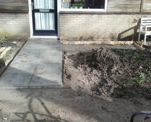 aanleg tuin in Wageningen