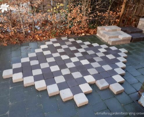 Vierkant gebakken klinkers ontwerp